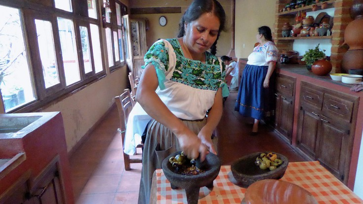 Cooking in Santa Fe
